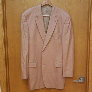 Burberry London 46XL Silk Wool Beige Copper Blazer